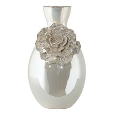 The dahlia is an elegant flower, as is this stunning vase finished in an ivory pearl iridescent glaze. Style # at Lamps Plus. Dahlia Flower, Flower Vases, Elegant Flowers, Colorful Flowers, Urn Vase, Floral Theme, Ivory Pearl, Ceramic Vase, Accent Decor