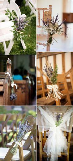 Hochzeit Gang Stuhl Dekorationen mit Lavendel