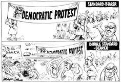 DA marchers clash with Cosatu South Africa, Editorial, Cartoons, Politics, Animated Cartoons, Cartoon, Animated Cartoon Movies, Comics, Comic Book