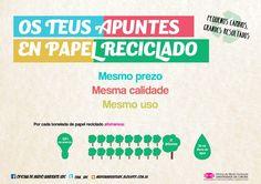 Universidade da Coruña: Campaña de papel reciclado
