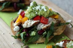 Cumin-Dusted Chicken Tostadas | via What's Gaby Cooking
