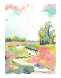 """Kiawah"" - Art Print by Makewells in beautiful frame options and a variety of sizes. Art And Illustration, Illustrations, Modern Art Prints, Wall Art Prints, Painting Inspiration, Art Inspo, Kunst Inspo, Oui Oui, Watercolor Art"