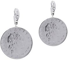 Vicenza Silver Sterling Set of 2 50-Lire Coin Charms