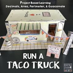 Welcome to the TACO TRUCK business! More and more food trucks are becoming high priorities in the eating world. Whether its a lunch crowd or a spot by a concert, food trucks are in high demand. Now students can create their own business using math skills (decimals, area, and perimeter) to make taco trucks become a reality.