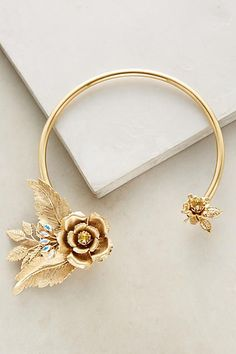 Amorio Collar Necklace - anthropologie.com | Golden Flowers | Jewelry
