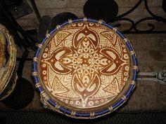 Djembe with custom Henna paint job by drainhook, via Flickr