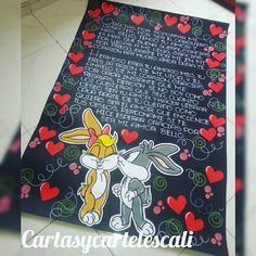 Cartel en cartulina negra 1 pkiego Wsp: 3205797879 Diy Gifts For Boyfriend, Gifts For Him, Watermelon Art, Cute Notes, Cute Texts, Valentines Diy, Origami, Diy And Crafts, Birthday Gifts