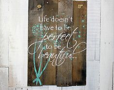 Rustic Pallet Sign What if I fall Oh but by EverydayCreationsJen