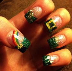 Rainbows | 19 Easy St Patricks Day Nail Designs | Easy Nail Art for Beginners Step by Step