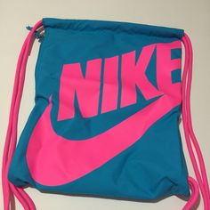 Brand new pink Nike drawstring bag NWT | Discover more ideas about Bag