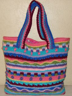 Crochet an accessory tote bag using scrap yarn pattern Crochet patterns