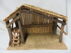 "Nativity Stable Creche Manger Christmas Religious Christian 10"" Wood Wooden"