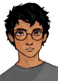 Fan Art Harry Potter - Harry - Page 2 - Wattpad Harry James Potter, Fanart Harry Potter, Harry Potter Drawings, Harry Potter Characters, Harry Potter Universal, Harry Potter World, Harry Harry, Desenhos Harry Potter, Dibujos Cute
