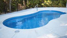 Cheap Fiberglass Pools: 4 Ways To Save Money on Your Fiberglass Pool! #ingroundpools #cheappools #budgetpool Cheap Inground Pool, Small Inground Swimming Pools, Inground Pool Designs, Cheap Pool, Pool Sizes Inground, Swimming Pool Size, Lap Pools, Indoor Pools, Backyard Designs