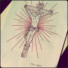 #jesus #whynot #fred_naud_tattoo [:-{