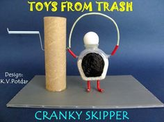 Toys from Trash. Recommended by Andrea Beaty, author of Rosie Revere Engineer and ONE GIRL [Abrams Science Toys, Stem Science, Science Fair, Science For Kids, Stem Projects, Science Projects, Projects For Kids, Science Activities, Science Experiments