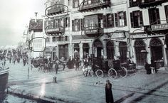 The Greek businesses in Σμύρνη - Smyrna Old Photography, History Of Photography, Greek History, Family History, Turkey History, Ottoman Empire, Istanbul Turkey, History Facts, Historical Photos