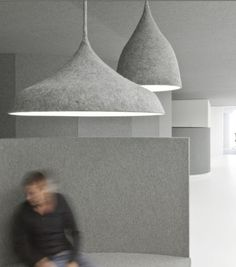 Felt lighting and walls by Dutch designers i29 Interior Architects.