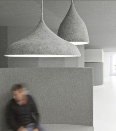 Felt lighting and walls by Dutch designers i29 Interior Architects.