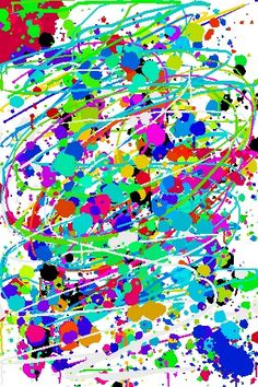 Jackson Pollock  COMMENT I love the use of colour in this piece. From the picture it looks as if it has been created digitally, which is a very interesting concept and something that I might have a go at.