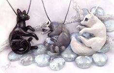 Black grey and white - animal necklaces by AlviaAlcedo.deviantart.com on @DeviantArt
