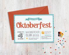 die passende einladung für's oktoberfest: einladung party fähnchen, Einladung