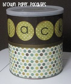 {ABC's in a can} - maybe add magnets for use on a dry erase board?
