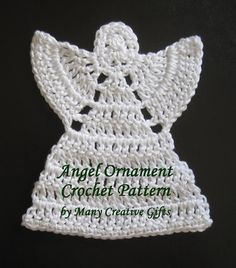 This angel ornament is made with a DK weight mercerized cotton yarn and works up all in one piece!
