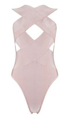 Tiana Nude Bandage Bodysuit