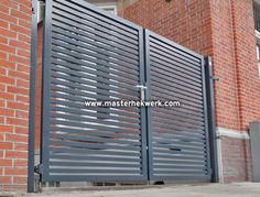 moderne design draaihek poort lamellen amsterdam
