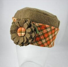Pillbox Style Hat from Upcycled Felted Wool ♥ by upcloseandpersonal, $35.00