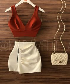 Para ser pronto Swag Outfits For Girls, Casual Skirt Outfits, Going Out Outfits, Teenager Outfits, Stylish Outfits, Girl Outfits, Fashion Outfits, Girl Fashion, Summer Outfits