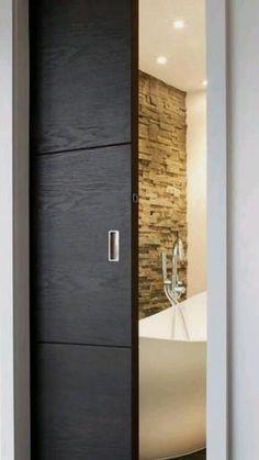 Door Design Interior, Home Room Design, House Design, Modern Door Design, Modern Interior Doors, Wardrobe Design Bedroom, Bedroom Door Design, Bathroom Design Luxury, Pocket Doors