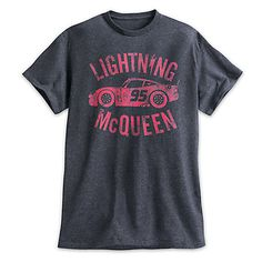 Disney Lightning McQueen Heathered Tee for Men - Cars 3 Disney Shirts For Men, Disney Men, Disney World Shirts, Mens Disney Shirt, Disney Pixar, Disney Family, Disney Cars, Walt Disney, Cruise Outfits