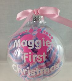 Christmas Ornament: Babys first christmas, 1st christmas, newborn baby