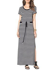 Michael Kors Short- Sleeve Striped Drawstring Maxi Dress Size S MICHAEL Michael Kors http://www.amazon.com/dp/B00I4165WE/ref=cm_sw_r_pi_dp_EQQ7tb0Q6V4HV