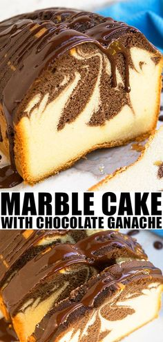 Marble Cake Recipe- Best, Classic, Old Fashioned, Quick, Easy on Best Recipes Ideas 6603 Chocolate Layer Dessert, Chocolate Ganache Icing, Chocolate Chip Mug Cake, Oreo Dessert, Chocolate Desserts, Chocolate Cupcakes, Ganache Cake, Ganache Recipe, Baking Chocolate