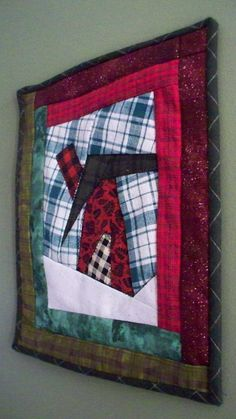 ICE SHANTY 11 x 13 Quilted Wallhanging by quiltingcafe on Etsy, $45.00