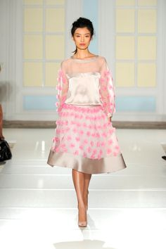 Temperley London Spring Summer 14, Wicker Blouse and Skirt