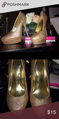 Sparkling pumps Worn no more then 5 times Charlotte Russe Shoes Heels