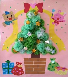 画像 Halloween Christmas, Christmas Crafts, Christmas Decorations, Xmas, Diy And Crafts, Crafts For Kids, Paper Crafts, Class Decoration, Candle Stand