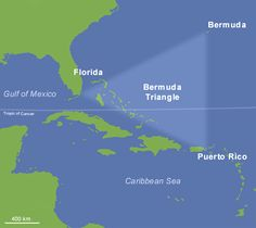 Bermuda Triangle - This part of the world is so mysterious (or large!) there aren't even any photos of it! This giant sea triangle off the coast of Florida has played host to countless ship and plane disappearances over the centuries.
