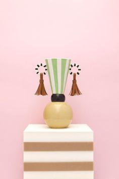 Masai Earrings Vase by Serena Confalonieri