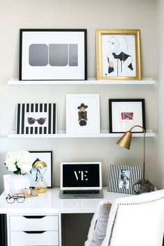Love the style for an at home office/study space