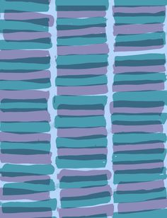 Stripes 2 - hand painted and digital - Sarah Bagshaw