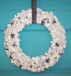 DIY - Puzzle Piece Wreath