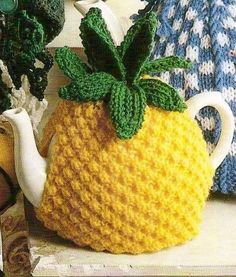 Pineapple teapot cosy knit free knitting pattern and more free pineapple tea cosy vintage knitting pattern 354 sent by pdf dt1010fo