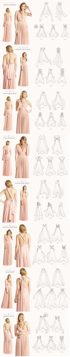 The Infinity Bridesmaid Dress - one dress, so many options!