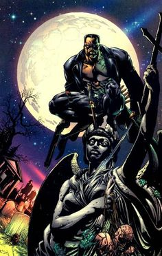 If the rumors of Moon Knight featuring Dracula are true then it's very likely that Blade may be involved in the show. This'd make Blade the first character to debut in an MCU TV show and then starving their own feature film. Marvel Comic Character, Comic Book Characters, Marvel Characters, Comic Books Art, Comic Art, Book Art, Marvel Dc Comics, Marvel Art, Marvel Heroes