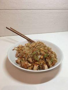 Νουντλς με λαχανικά και κοτόπουλο (Πεκίνου) Japchae, Street Food, Ethnic Recipes